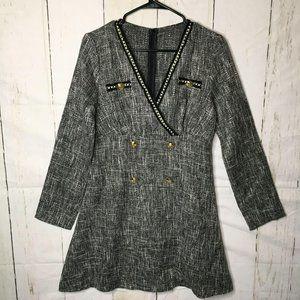 Shein Womens Career Dress Medium 6 Gray NWT